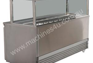 Koldtech KT.SQSM.1330 Square Glass Sandwich Bar - 1330mm