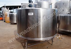Stainless Steel Jacketed Mixing Capacity 2,300Lt