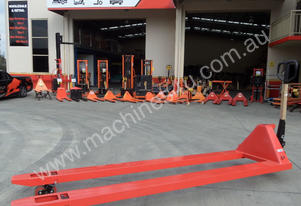Extra Long Pallet Jack 1400mm - Sydney Stock