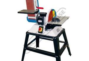 L-612A Belt & Disc Linisher Sander Vertical or Horizontal Linishing Position 150 x 1220mm (W x L) Be