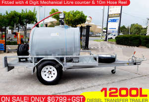 1200L Diesel Fuel Trailer 12V+Hose Reel & counter