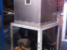 Freestanding Hopper (S/S, rectangular) with 45 degree angled discharge chute - picture0' - Click to enlarge