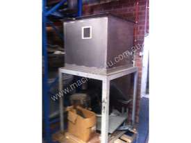 Freestanding Hopper (S/S, rectangular) with 45 degree angled discharge chute - picture1' - Click to enlarge