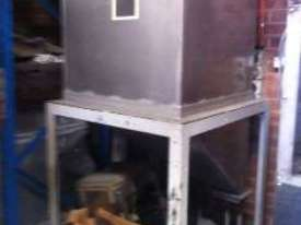 Freestanding Hopper (S/S, rectangular) with 45 degree angled discharge chute - picture15' - Click to enlarge