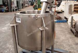 Stainless Steel Jacketed Mixing Tank, Capacity: 120Lt