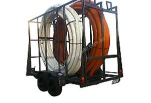 NEW : MECHANICAL BRAKE POLY COIL PIPE TRAILER FOR HIRE