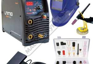RAZOR DIGITAL PULSE AC/DC 200 AC/DC Inverter TIG/ARC Welder Package Deal 10-200A #KUMJRRWZ200AC/DC