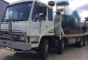 8x4 Dual Steer Beaver Tail Flat Bed Truck, Call EMUS