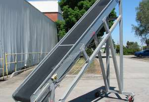 Large Incline Motorised Belt Conveyor - 3.4m High