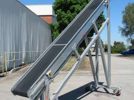 Large Incline Motorised Belt Conveyor - 3.4m High - picture0' - Click to enlarge