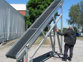 Large Incline Motorised Belt Conveyor - 3.4m High - picture1' - Click to enlarge