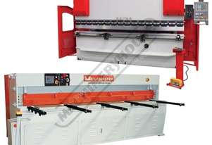HG-1060B & PB-70B Hydraulic NC Guillotine & NC Pressbrake Package Deal Guillotine - 3100 x 6mm, Pres