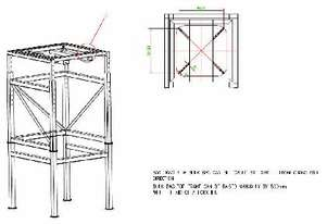 S/S Bulk Bag Stand with H-Frame for Forklift