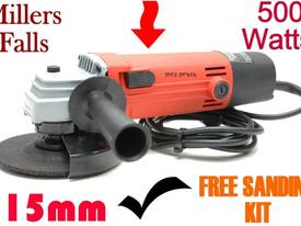 Angle Grinder 115mm Millers Falls + Sandings Kit**