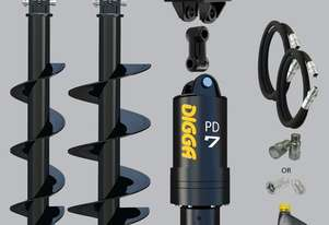 Digga PD7 auger drive combo package excavator up to 7.5T