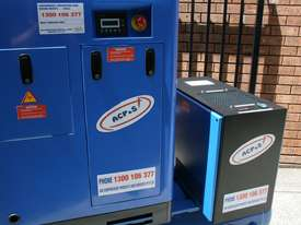 German Rotary Screw - 10hp 7.5kW Rotary Screw Air Compressor with Tank Dryer and Oil Removal Filters - picture2' - Click to enlarge