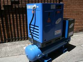German Rotary Screw - 10hp 7.5kW Rotary Screw Air Compressor with Tank Dryer and Oil Removal Filters - picture3' - Click to enlarge