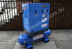 German Rotary Screw - 7.5hp  5.5kW Rotary Screw Air Compressor with 220 Litre Air Receiver