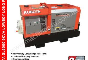 Portable 9 KVA Kubota GL9000 Lowboy Full Mine Spec