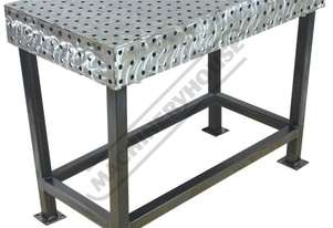 FBL60120-M CertiFlat fabBLOCK 3D Welding Table 600 x 1200 x 860mm (LxWxH) Tab & Slot U-Weld