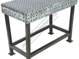 FBL60120-M CertiFlat fabBLOCK 3D Welding Table 600 x 1200 x 860mm (LxWxH) Tab & Slot U-Weld - picture0' - Click to enlarge