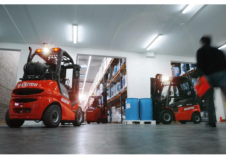 NEW 2.5T LPG MANITOU, 4700MM CONTAINER MAST.  OWN IT FROM $19.50 + GST PER DAY