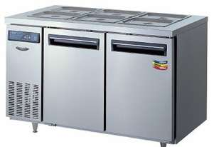 Lassele LTB-1571PC Two Solid Door Under Bench Fridge w/Topping Unit - 1500mm