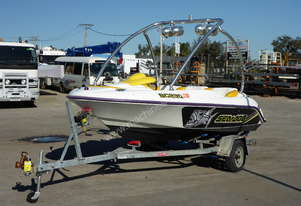 1996 Seadoo Speedster Twin Jet Boat with 1999 Polmac Single Axle Boat Trailer