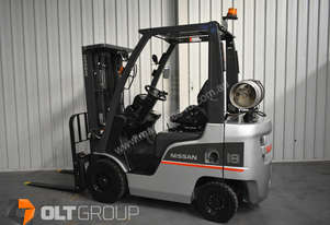 Used Nissan 1.8 tonne forklift Sydney LPG 4.3m lift height sideshift