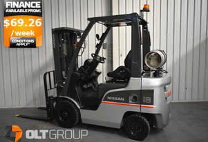 Used Nissan 1.8 tonne forklift 4.3m Lift Height Container Mast Sideshift Sydney