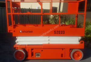 Snorkel Scissor Lift S2033 5year Cert Just been Completed LOW HOURS!