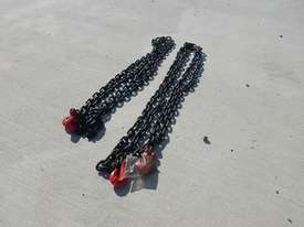 Unused G80 8mm x 4m Lashing Chain (2 of) - 2991-115 - picture1' - Click to enlarge