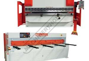 HG-1060B & PB-135B Hydraulic NC Guillotine & NC Pressbrake Package Deal Guillotine - 3100 x 6mm, Pre