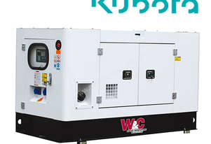 9kVA, 3 Phase, Standby Diesel Generator with Kubota Engine in Canopy