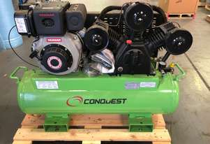 PRICE REDUCED - CONQUEST CD27/120ES 18.6cfm 8Bar Diesel Reciprocating Air Compressor