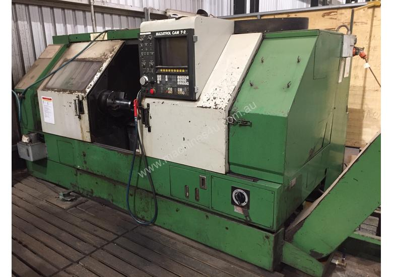 Used mazak Mazak Quick Turn QT35 Slant Bed CNC Lathe in