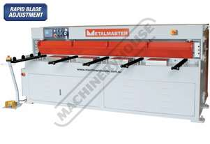 HG-840B Hydraulic NC Guillotine 2500 x 4mm Mild Steel Shearing Capacity 1-Axis Ezy-Set NC-89 Control