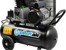 TM420SDi Pilot Air Compressor 50 Litre Tank / 3hp 14.6cfm / 416lpm Displacement - picture0' - Click to enlarge