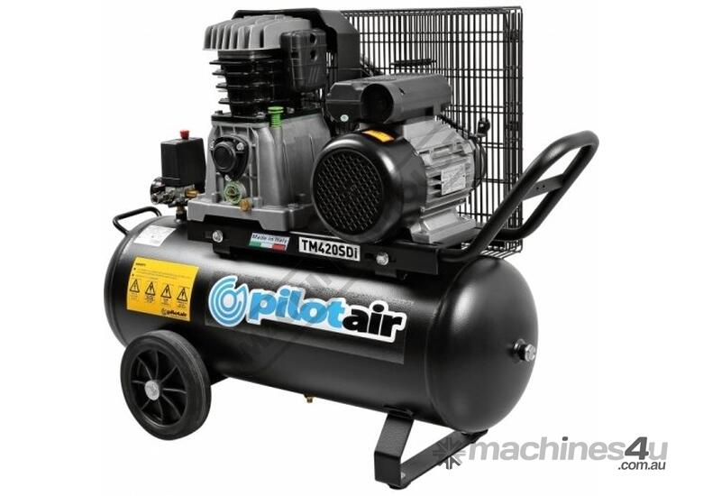 TM420SDi Pilot Air Compressor 50 Litre Tank / 3hp 14.6cfm / 416lpm Displacement