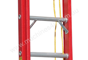 3.2 - 5.3m Fiberglass Extension Ladder