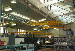 Gorbel ceiling mounted bridge crane