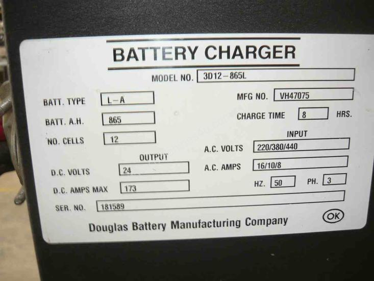 DOUGLAS 24VOLT FORKLIFT BATTERY CHARGER