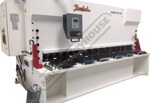 HNC 3100x10 Hydraulic CNC Guillotine - Variable Rake 3070 x 10mm Mild Steel Shearing Capacity 1-Axis
