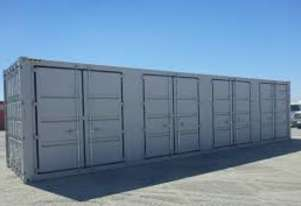 New 40ft high cube shipping containers with side and end doors with different configurations
