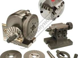 BS-0 Dividing Head - Semi Universal Package Deal 100mm Centre Height Includes 130mm 3-Jaw Chuck - picture0' - Click to enlarge