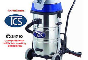 TCS Commercial 80L Wet & Dry Vacuum Cleaner with Floor Squeegee 3000W Ametek Motor