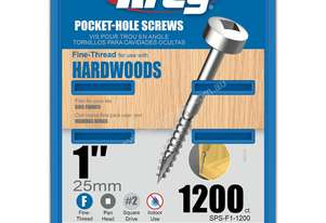 Kreg Pocket Screws 1 Fine Thread Pan Head 6g - 1000pc