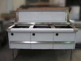 Complete WFS-4/18 Four Pan Fish and Chips Deep Fryer - 20 Liter Capacity Per Pan - picture0' - Click to enlarge