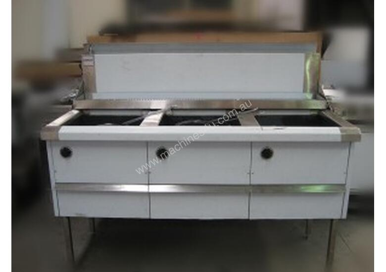 Complete WFS-4/18 Four Pan Fish and Chips Deep Fryer - 20 Liter Capacity Per Pan