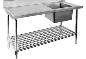 F.E.D. SSBD7-1800R Right Inlet Single Sink Dishwasher Bench